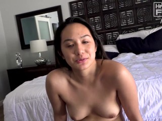 This 18yo HOT College ASIAN Let The Entire FOOTBALL TEAM hit it.