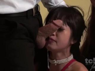 2 asian girls throat fucked