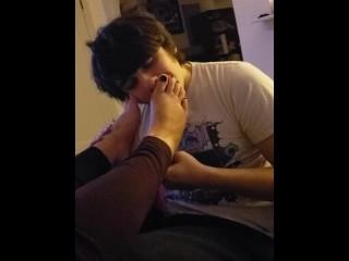Foot Worship with Asian Tinder Girl